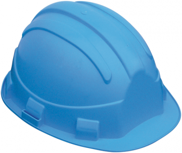 Casque chantier EARLINE 65161 OPAL bleu avec garniture frontale